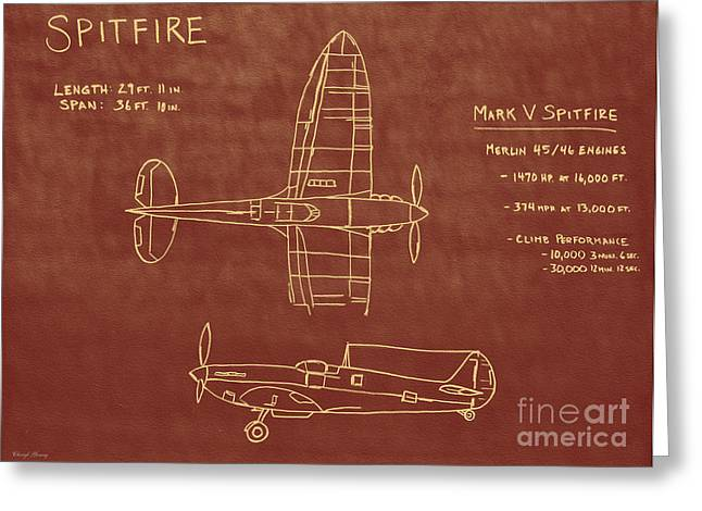 Merlin Greeting Cards - Spitfire Greeting Card by Cheryl Young