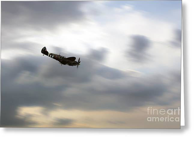 Mkix Greeting Cards - Spitfire Dive  Greeting Card by J Biggadike