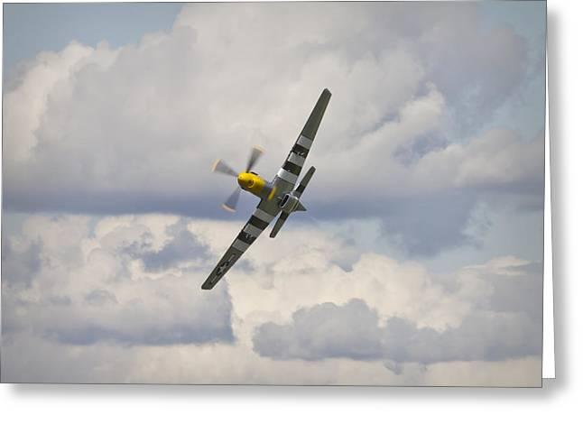 Spiteful Greeting Cards - Spitfire Fighter  Greeting Card by Maj Seda