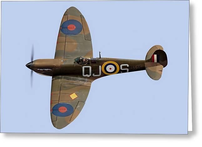 Spitfire Mk 1 R6596 Qj-s Greeting Card by Gary Eason