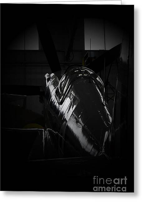 Recon Greeting Cards - Dark Spitfire Greeting Card by J Biggadike