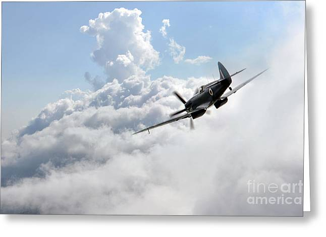 Recon Greeting Cards - Spitfire Speed  Greeting Card by J Biggadike
