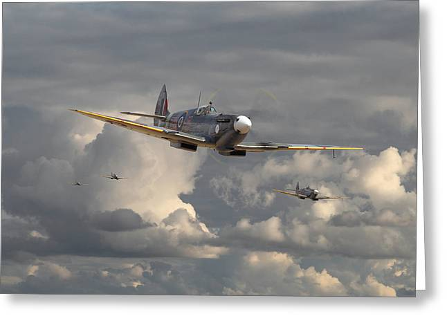 Spitfire - Strike Force Greeting Card by Pat Speirs