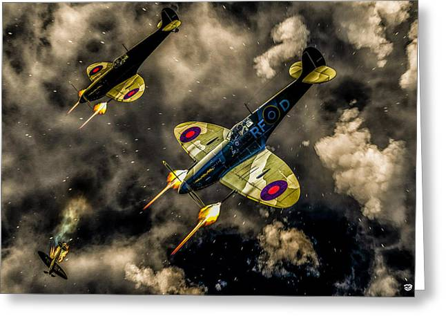 Nz Warbirds Greeting Cards - Spitfire Greeting Card by Todd and candice Dailey