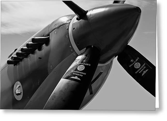 Spitfire Vickers Supermarine Mk Ixe Sl633 Greeting Card by Daniel Hagerman