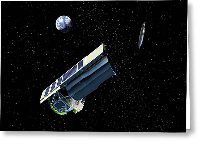 Spitzer Space Telescope After Launch Greeting Card by Nasa