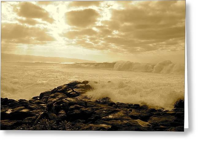 North Shore Greeting Cards - Splash Greeting Card by Keith Harkin