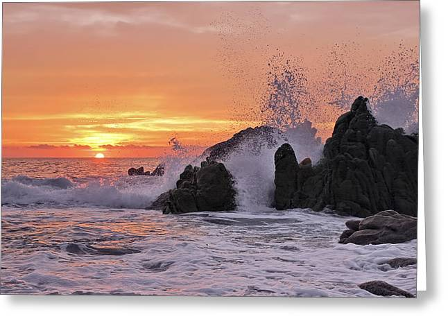 Turbulent Skies Greeting Cards - Splash  Greeting Card by Marcia Colelli