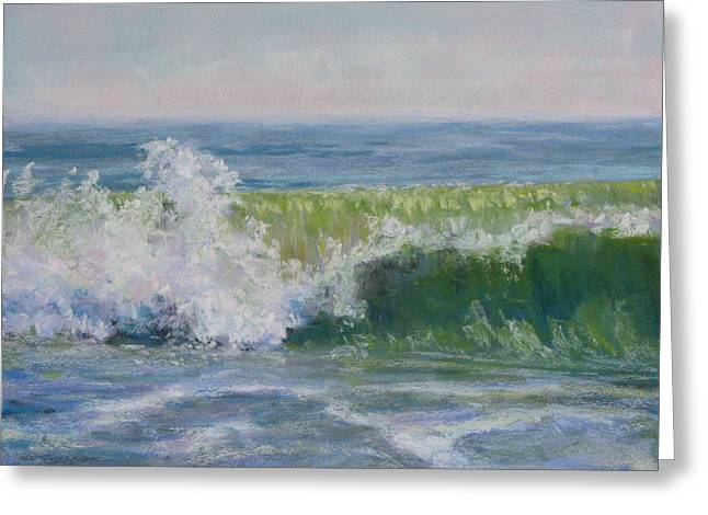 Atlantic Beaches Pastels Greeting Cards - Splash Greeting Card by Marsha Savage