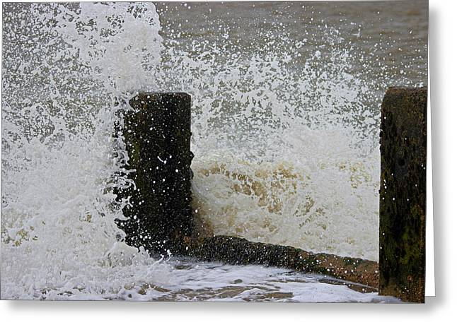 Water Splashes Greeting Cards - Splash Greeting Card by Martin Newman