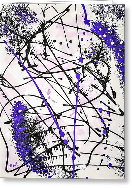 Acylic Paint Greeting Cards - Splash Greeting Card by Melissa Smith