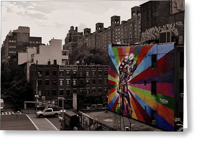 New York City Graffiti Greeting Cards - Splash of Color in NYC Greeting Card by Mountain Dreams