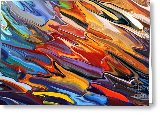 Color Greeting Cards - Splash of Colour Greeting Card by Chris Butler