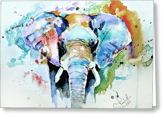 White Art Greeting Cards - Splash of colour Greeting Card by Steven Ponsford