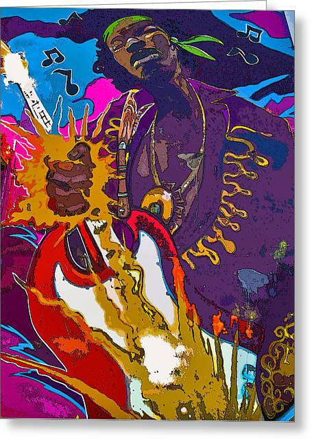 Picking Digital Art Greeting Cards - Splash of Hendrix Greeting Card by Greg Sharpe