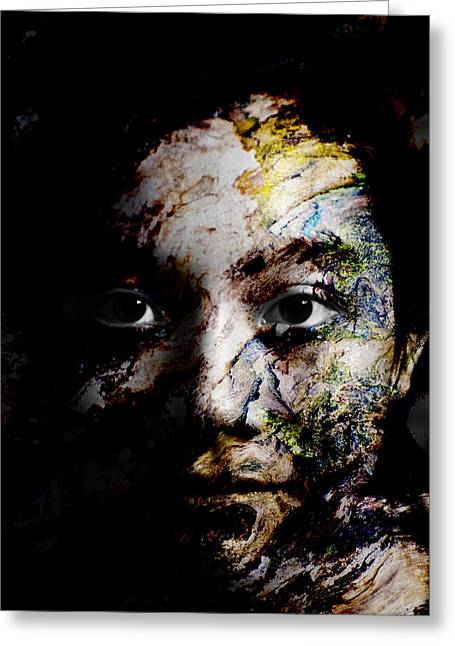Eyes Greeting Cards - Splash of Humanity Greeting Card by Christopher Gaston