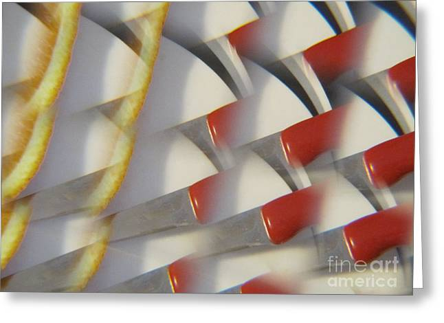 Red Photographs Drawings Greeting Cards - Splash Of Red -  Abstract Greeting Card by Tara  Shalton