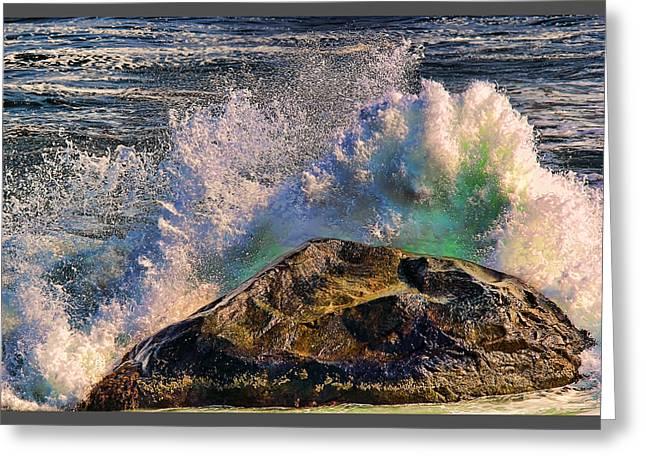 Ocean Scenes Greeting Cards - Splash Greeting Card by Tom Prendergast