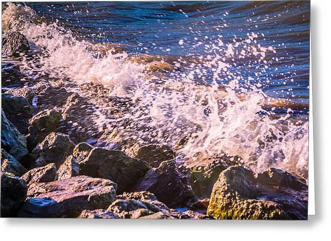 River Medway Greeting Cards - Splashes Greeting Card by Dawn OConnor