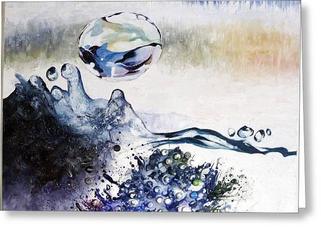 Splashing Through Waves Greeting Card by Adel Ahn