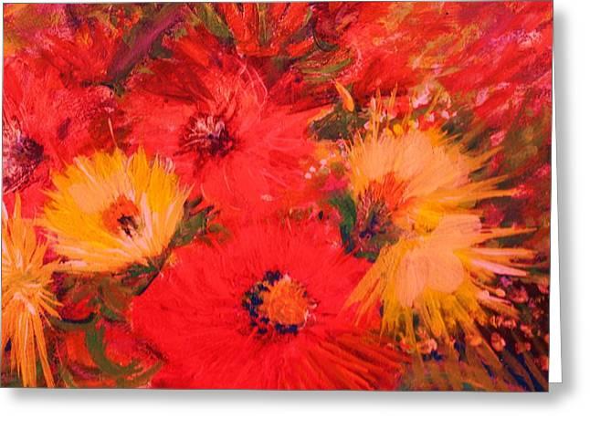 Splashy Floral IIi Greeting Card by Anne-Elizabeth Whiteway