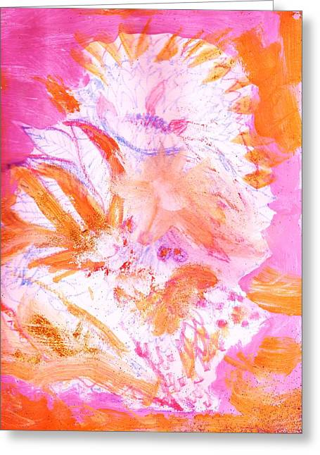Splashy Paintings Greeting Cards - Splashy Impressionistic Spontaneity Greeting Card by Anne-Elizabeth Whiteway