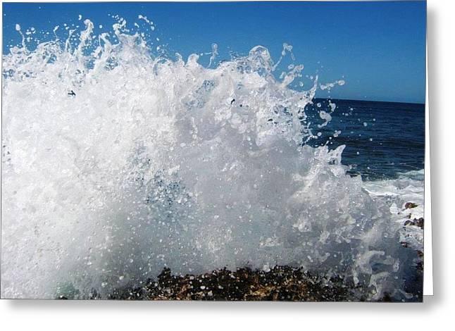 Splashy Greeting Cards - Splashy Island Greeting Card by Imelda Sausal-Villarmino