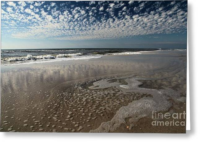 St Joseph Peninsula State Park Greeting Cards - Splattered Clouds Greeting Card by Adam Jewell