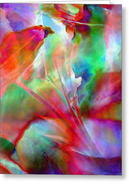 Print On Canvas Greeting Cards - Splendor - Abstract Art Greeting Card by Jaison Cianelli
