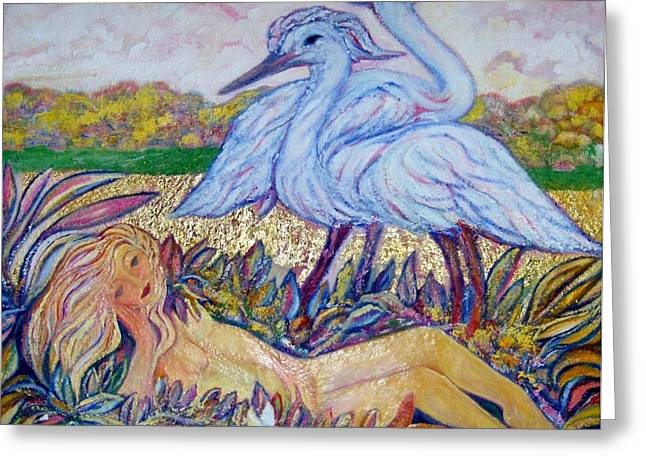 Gay Art Framed Giclee On Canvas Greeting Cards - SPLENDOR in the GRASS  2 Greeting Card by Gunter  Hortz