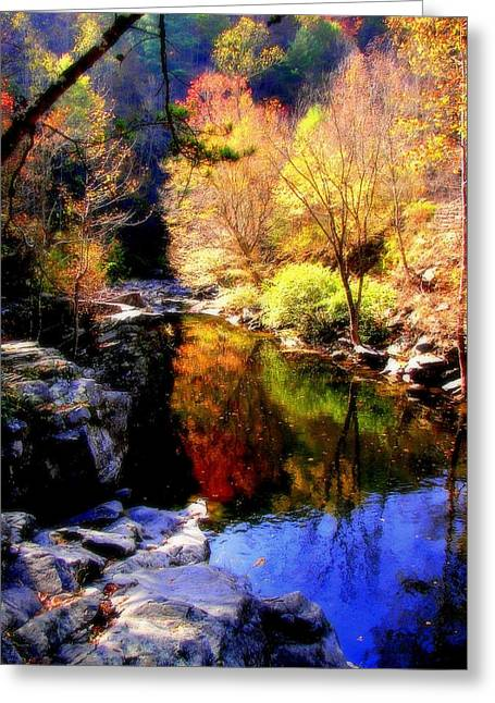 Gatlinburg Tennessee Greeting Cards - SPLENDOR of AUTUMN Greeting Card by Karen Wiles