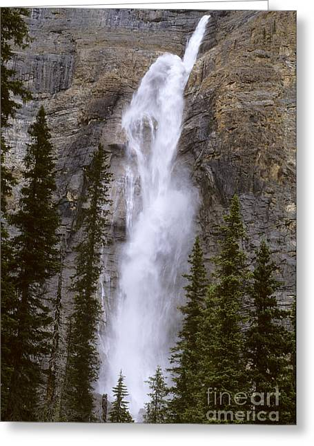 Alberta Water Falls Greeting Cards - Splendor Of Takakkaw Falls Greeting Card by Bob Christopher