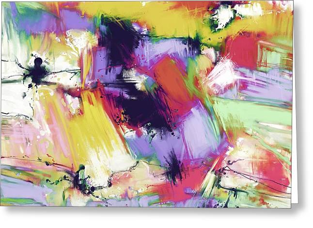 Loose Style Digital Greeting Cards - Splintered time Greeting Card by Keith Mills