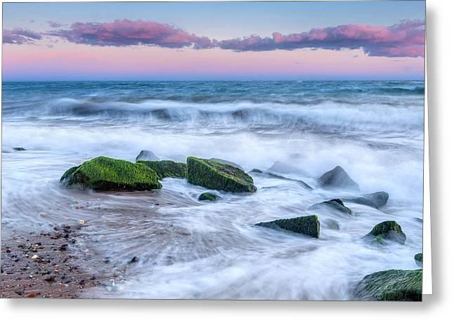 Cape Cod Landscapes Greeting Cards - Splish Splash Greeting Card by Bill  Wakeley