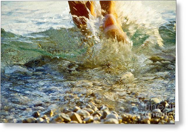 Splish Splash Greeting Card by Heiko Koehrer-Wagner