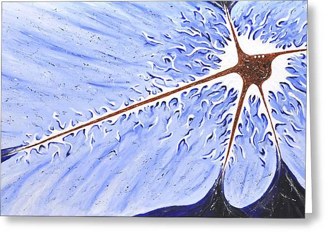 Flower Bombs Greeting Cards - Split Atom Greeting Card by Matthew Blum