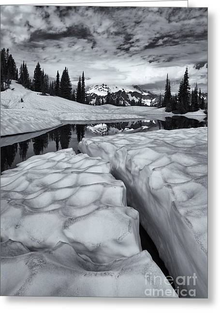 Fissure Greeting Cards - Split Greeting Card by Mike  Dawson