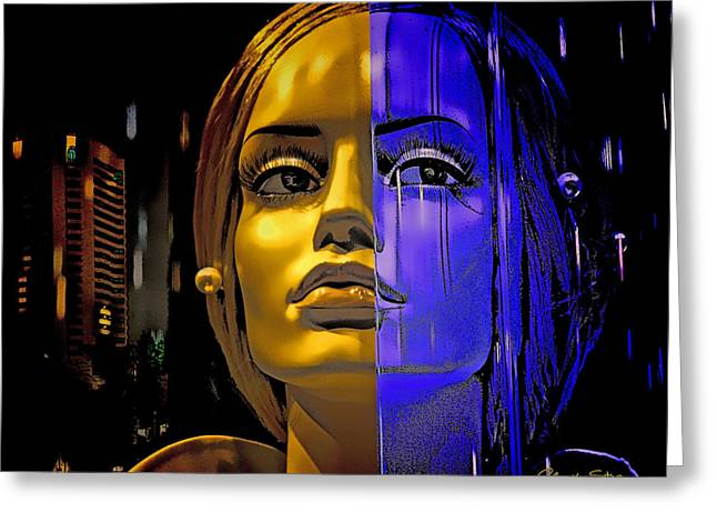Split Personality Greeting Cards - Split Personality Greeting Card by Chuck Staley