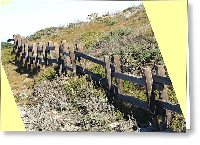 Split Rail Fence Greeting Cards - Split Rail Fence Yellow Greeting Card by Barbara Snyder