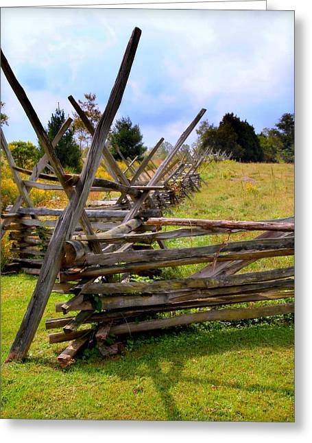 Split Rail Fence Greeting Cards - Split Rail Greeting Card by Karen Wiles