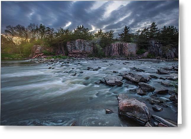 Water Flowing Greeting Cards - Split Rock Creek Greeting Card by Aaron J Groen