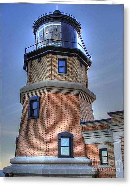 North Shore Greeting Cards - Split Rock Lighthouse Greeting Card by Jimmy Ostgard