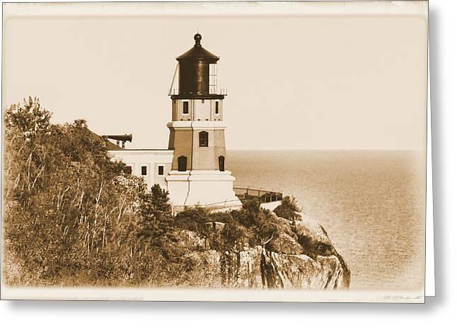 Split Rock Lighthouse Greeting Card by Kristin Elmquist