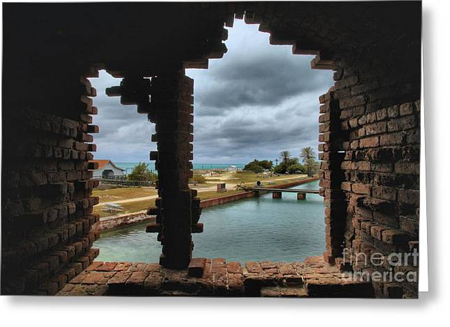 Dry Tortugas National Park Greeting Cards - Split Vision Greeting Card by Adam Jewell