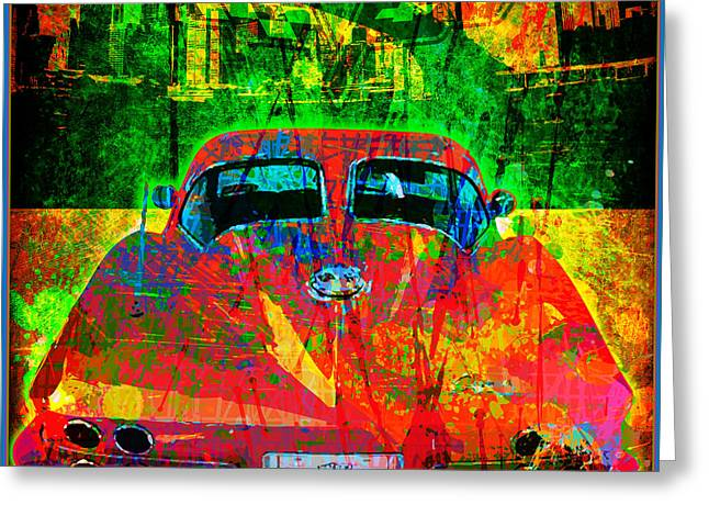 Vector Greeting Cards - Split Window Corvette Greeting Card by Gary Grayson