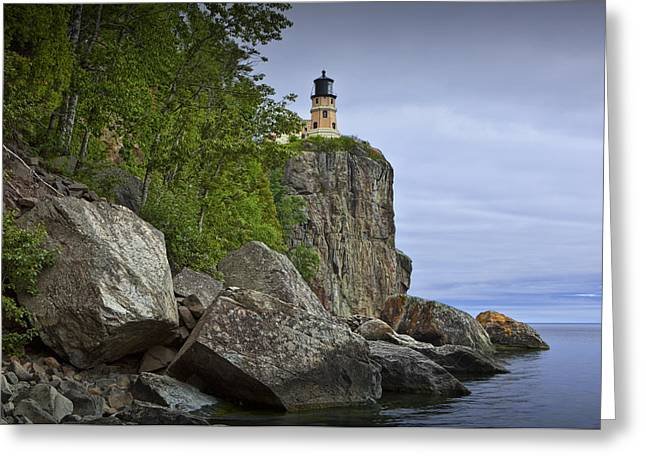 Splitrock Lighthouse In Minnesota No. 4448 Greeting Card by Randall Nyhof