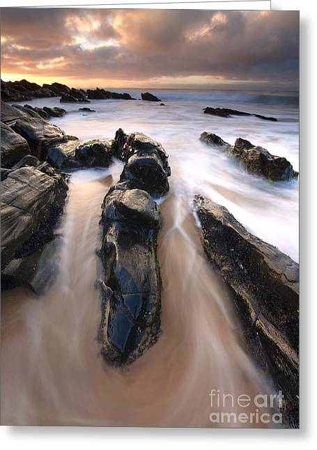 Splitting The Rocks Greeting Card by Mike  Dawson