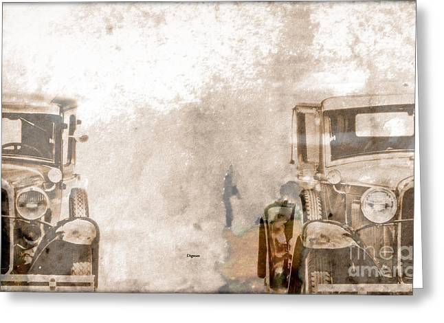 Ford Model T Car Greeting Cards - Splitting the Ts  Greeting Card by Steven  Digman