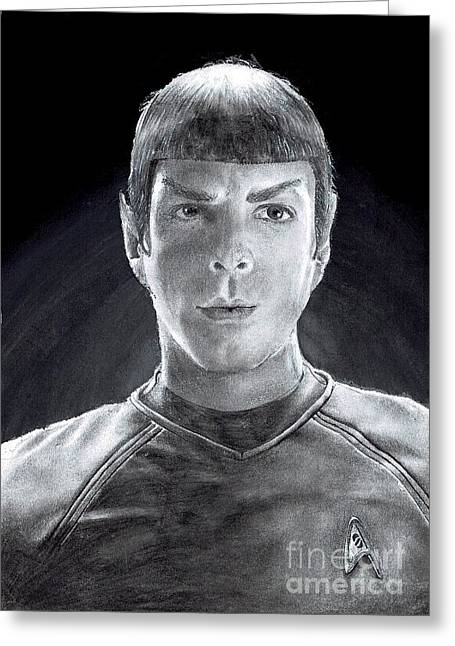 Spock Drawings Greeting Cards - Spock Greeting Card by Ace Spencer Apolonio