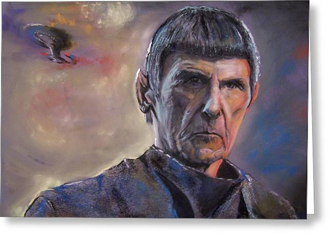 Spock Pastels Greeting Cards - Spock Greeting Card by Peter Suhocke